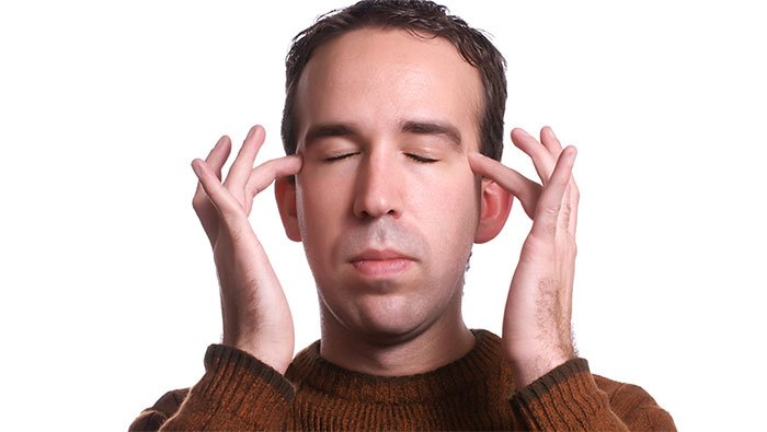 Man Practicing Emotional Freedom Technique